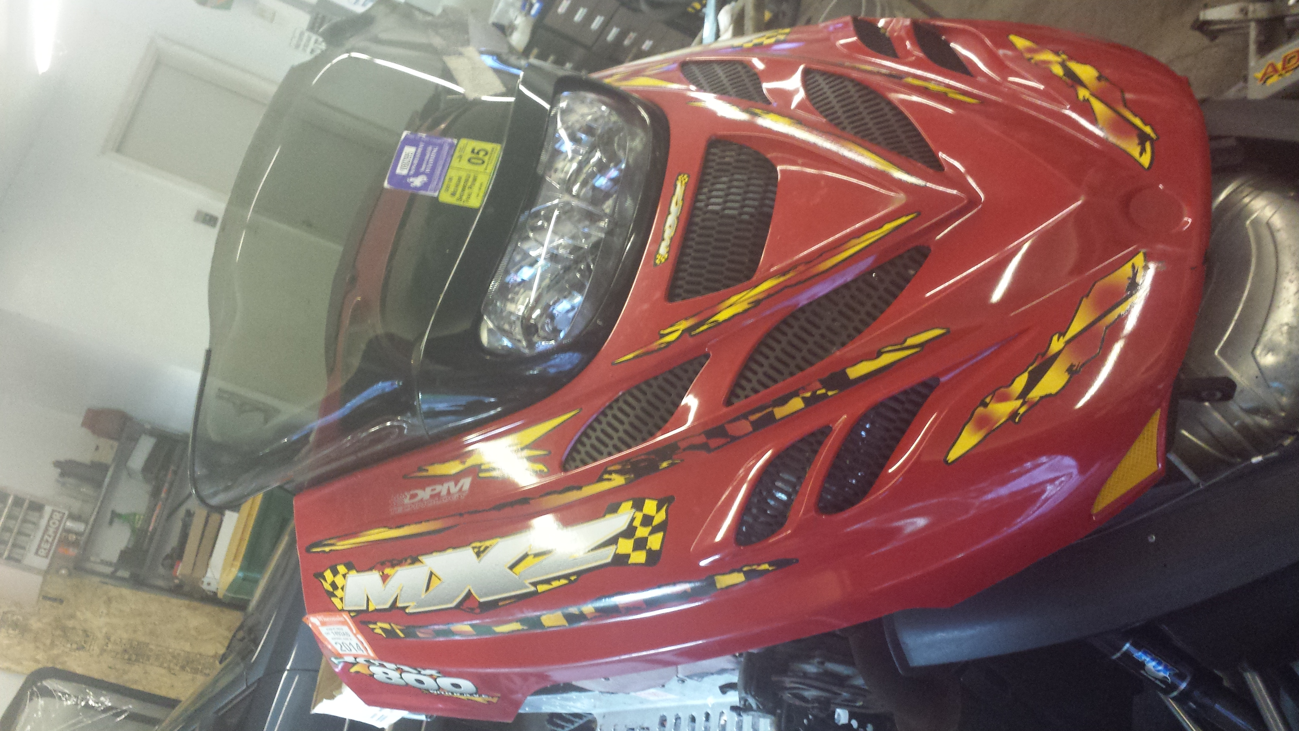 Parts available from 2001 Ski Doo MXZ 800 Red