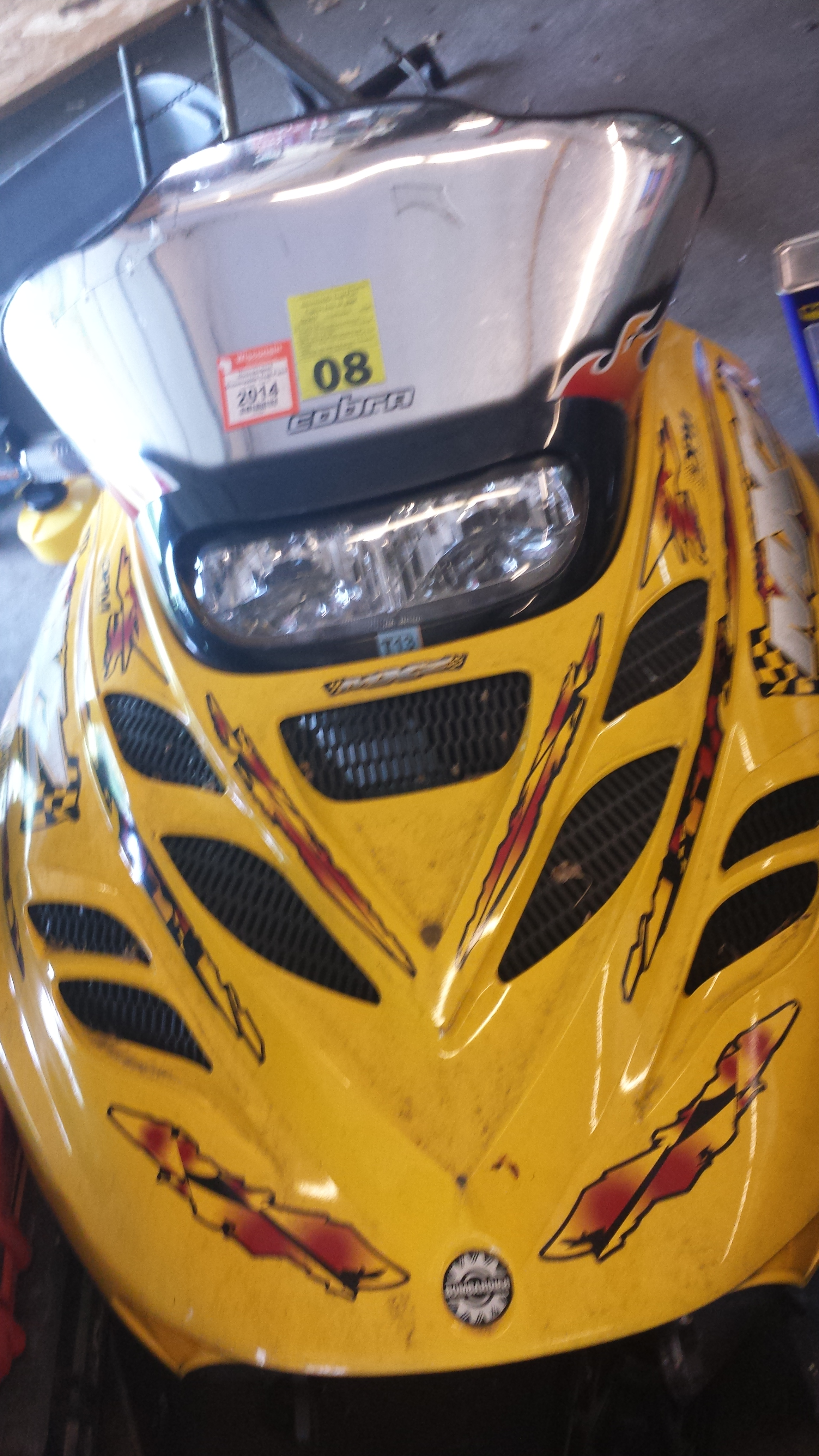 Parts available from 2001 Ski Doo MXZ 800 Yellow