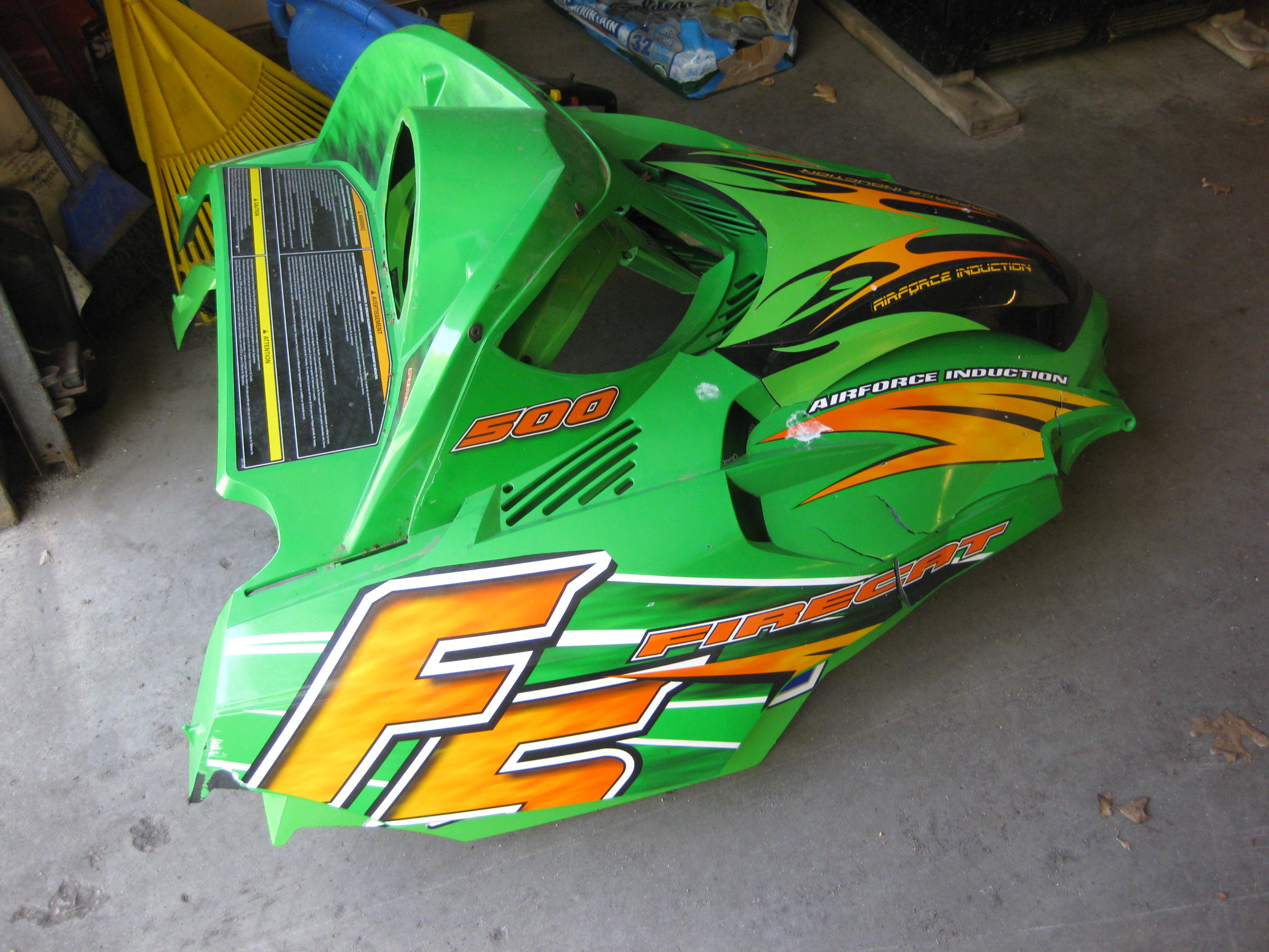 Parts available from 2006 Arctic Cat F5 green