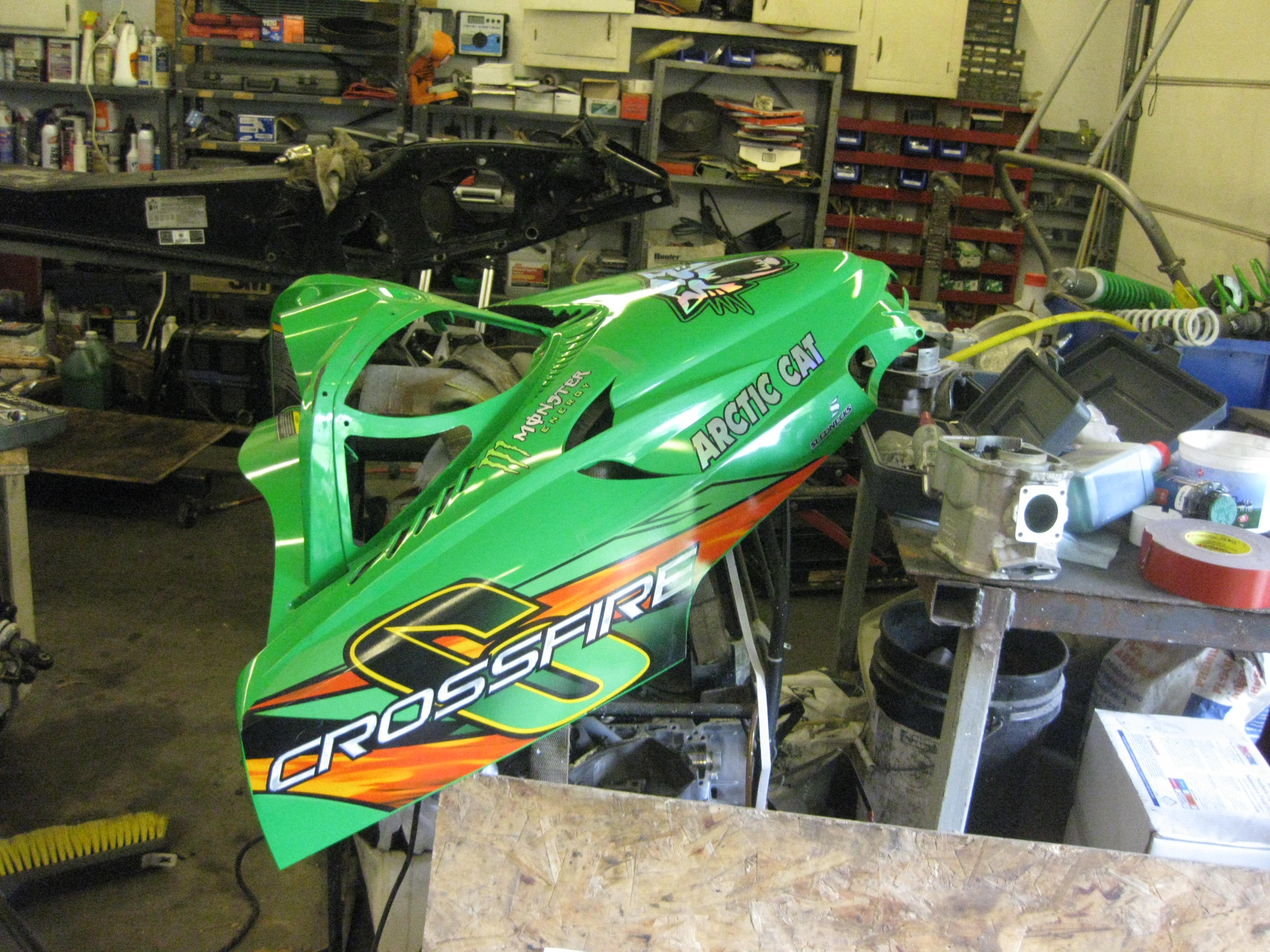 Parts available from 2007 Arctic Cat Crossfire 600 green