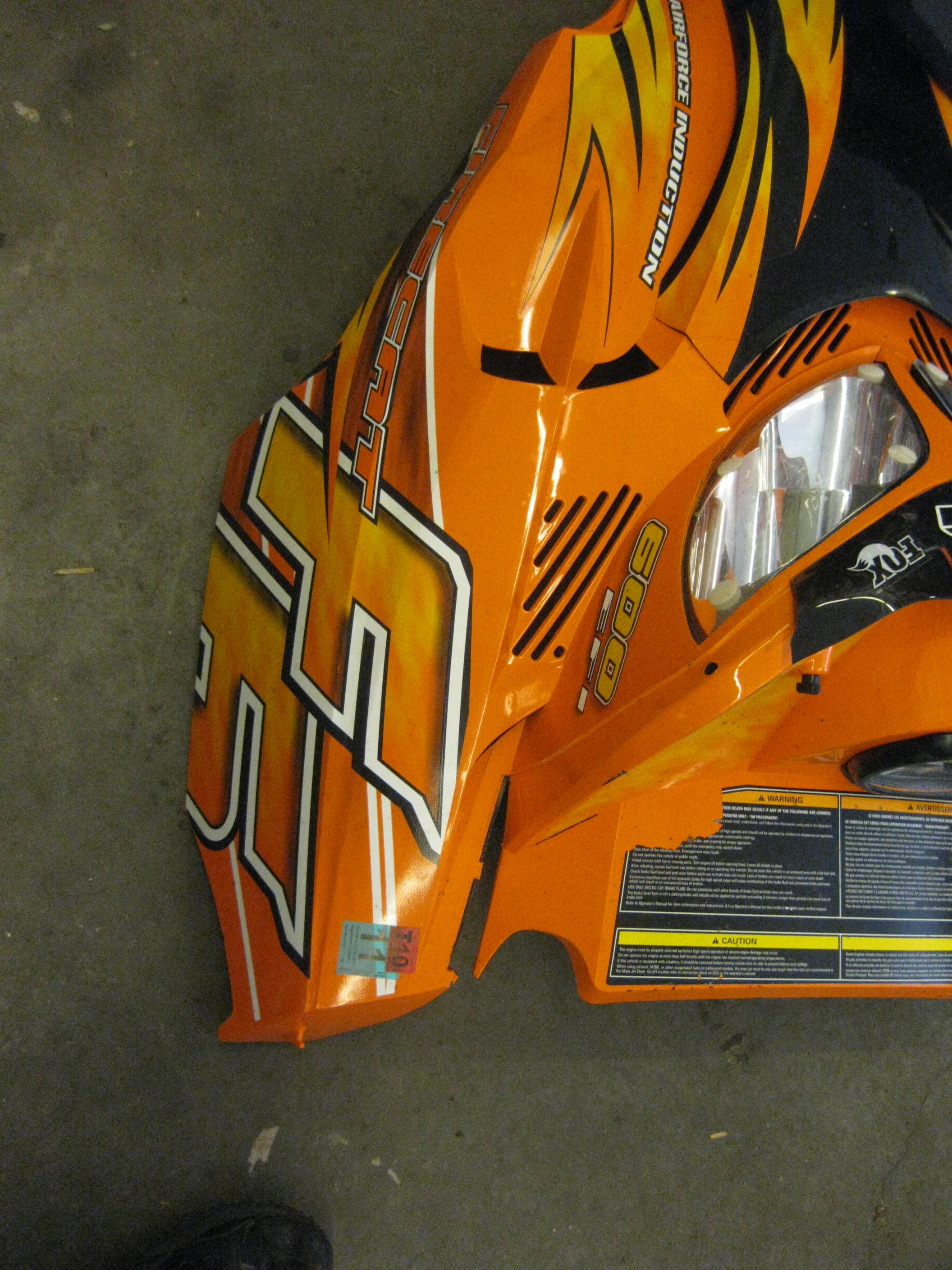 Parts available from 2006 Arctic Cat F6 Sno Pro orange